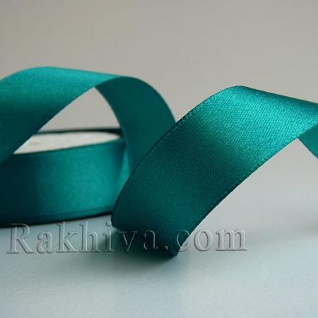 Панделка сатен - зелено, 1 ролка 6 мм/ 25 ярда 154/(6/25/2360)