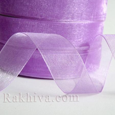 Тъкани панделки Органза, 1 ролка 6 mm/ 50ярда св. лилаво (6/50/2293)
