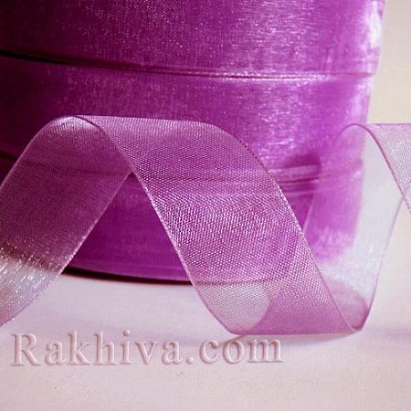 Тъкани панделки Органза, 1 ролка 2 cm/ 50ярда св. слива (20/50/2299)
