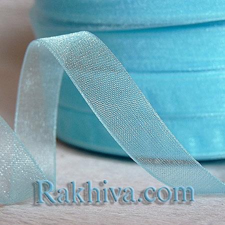 Тъкани панделки Органза, 1 ролка 6 mm/500 ярда св. синьо (6/500/2251)