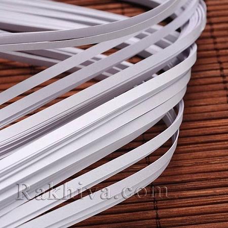 Квилинг лентички бяло, 3мм/ 390мм (DIY-J001-3mm-B33)