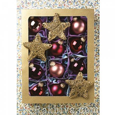 Луксозни коледни картички с плик (големи), 22043 (1бр.)