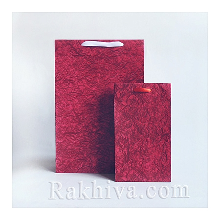 Ламинирани хартиени торбички Елеганс на Пакети ЧЕРВЕНО, Елеганс/ 18cm x 18cm x 5.8cm (малък кв.)