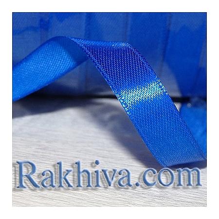 Панделка сатен  тъмно синьо, 1 ролка 6 мм/ 25 ярда 162/(6/25/2355)