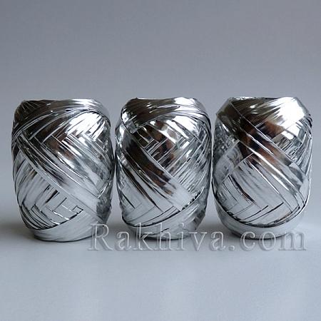 Хартиена рафия Метализе, сребро  (60/15/300)