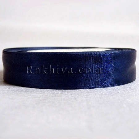 Панделка сатен - мастилено синьо, 1 ролка 20 мм/ 25 ярда 160/(20/25/2354)