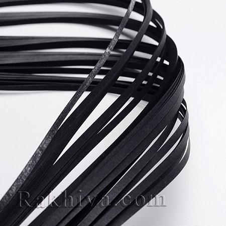 Квилинг лентички черно, 3мм/ 390мм (DIY-J001-3mm-B35)