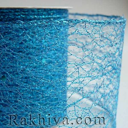 Мрежа с брокат - тюркоаз, 8 см/ 10 Y (80/10/3857)