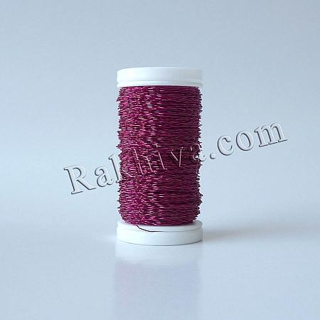 Цветна тел с ЕФЕКТИ за бижута, декорация и букети, циклама (0.3 мм/ 50 г)