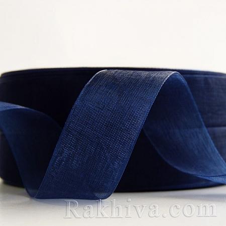 Тъкани панделки Органза, 1 ролка 2 cm/50 ярда мастилено синьо (20/50/2254)