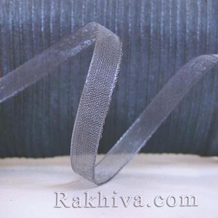 Тъкани панделки Органза, 1 ролка 6 mm/20 метра графит (6/20/2224)