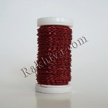 Цветна тел с ЕФЕКТИ за бижута, декорация и букети, червено (0.3 мм/ 50 г)