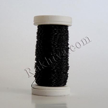 Цветна тел с ЕФЕКТИ за бижута, декорация и букети, черно (0.3 мм/ 50 г)