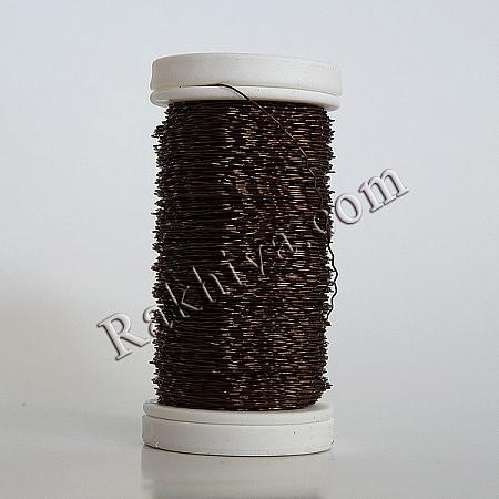 Цветна тел с ЕФЕКТИ за бижута, декорация и букети, кафяво (0.3 мм/ 50 г)
