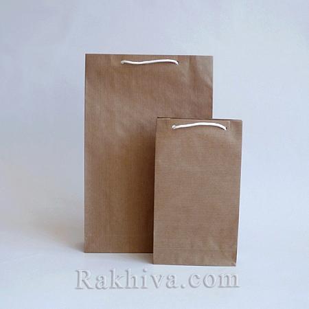 Едноцветни торбички - натурал, 12см/18см/5см (малки) (12/18/7230)