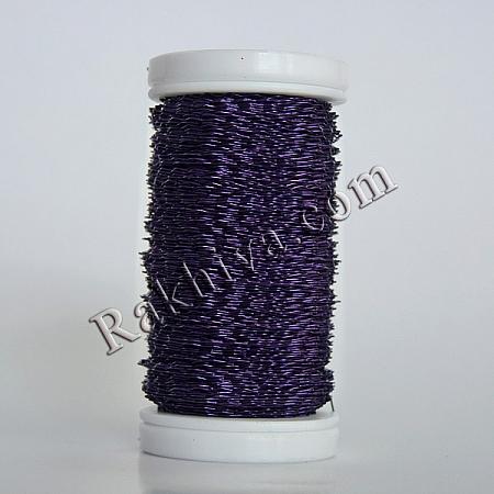 Цветна тел с ЕФЕКТИ за бижута, декорация и букети, лилаво (0.3 мм/ 50 г)