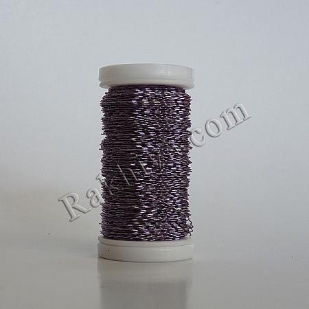 Цветна тел с ЕФЕКТИ за бижута, декорация и букети, св. лилаво (0.3 мм/ 50 г)