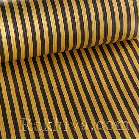 Крафт хартия за букети и опаковане Райе, 80 см/ 25 м, злато,черно (80/25/184200-20)