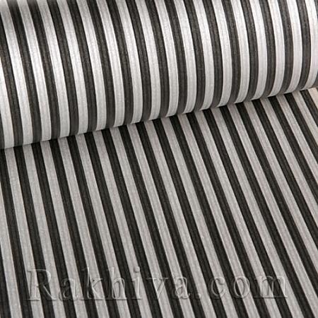 Крафт хартия за букети и опаковане Райе, 60 см/ 25 м, сребро,черно (60/25/1842300-20)