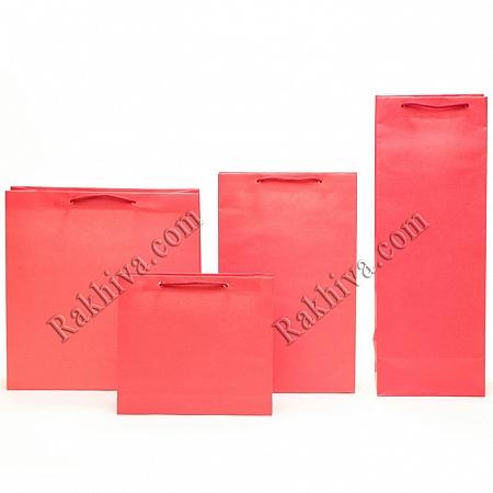 Едноцветни торбички - червено, 12см/18см/5см (малки) (12/18/7280)