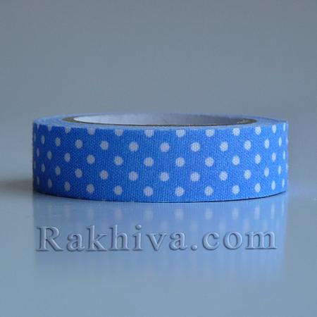 Декоративно тиксо Точки, синьо (DIY-A003-C03)