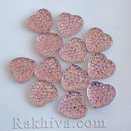 Сърце за декорация, розово (CRES-M795-5)