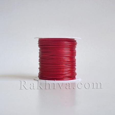 Восъчен шнур, 1 мм червено (YC-R004-1.0mm-02)