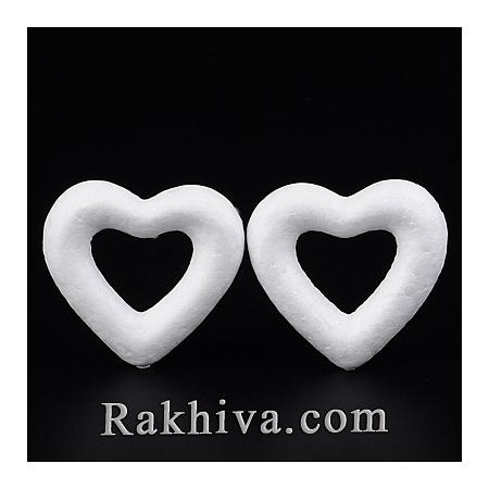 Стиропорена фигура за декорации - Сърце, 1 бр. (DJEW-M005-12)