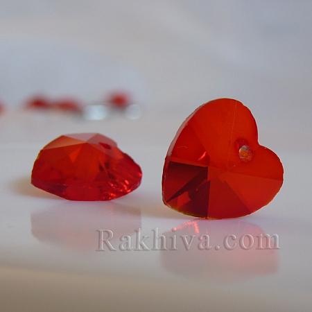 Червени сърца за обеци, медальон, за бижута и декорация, св. червено сърце (GLAA-R082-08)