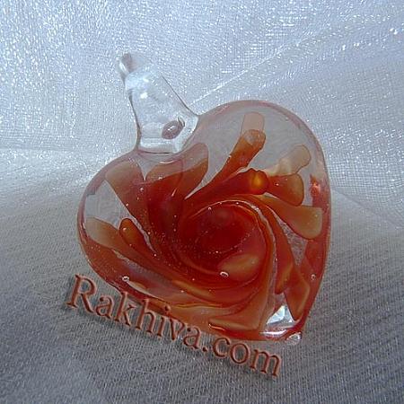 Сърце тип Лампуърк, червено, сърце (LAMP-C1206-2)