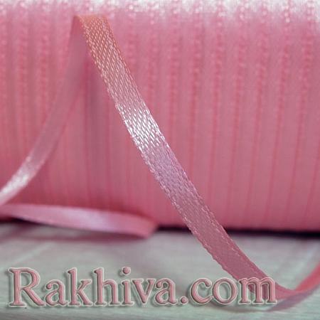 Панделка сатен - бебешко розово, 3 мм/ 20 метра 188/(3/20/2341), без шпула