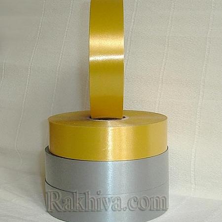 Панделки чисти цветове, 1 ролка 3см/ 100 ярда 25 3/100/28200 (злато)