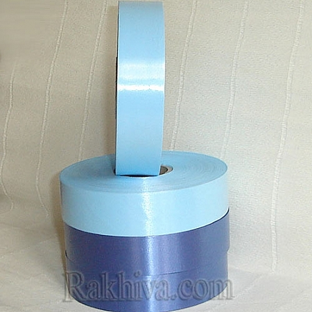 Панделки чисти цветове, 1 ролка 2см/ 100 ярда 2/100/2852 (св. синьо)