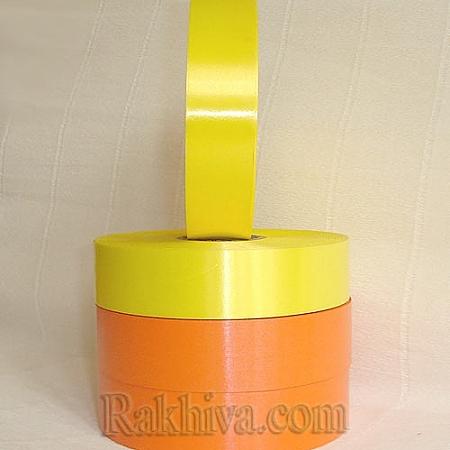 Панделки чисти цветове, 1 ролка 2см/ 100 ярда 2/100/2870 (жълто)