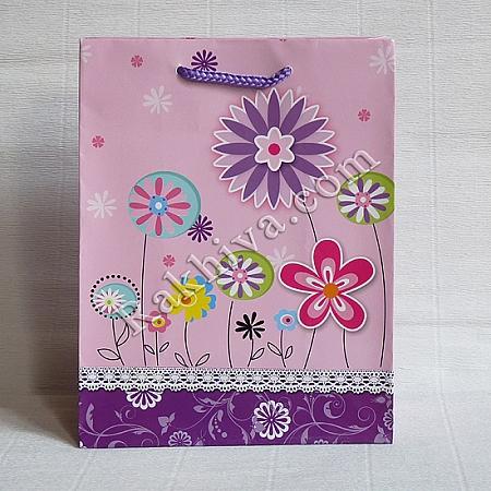 Ламинирани хартиени торбички Ракхива, 17,8x22,9x9,8 cm, 10 бр. средни (2120)