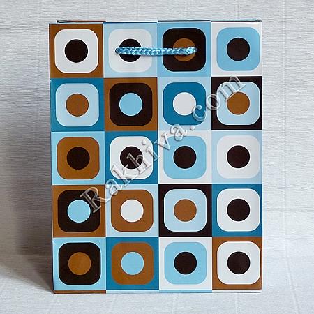 Ламинирани хартиени торбички Ракхива, 17,8x22,9x9,8 cm, 10 бр. средни (5072)
