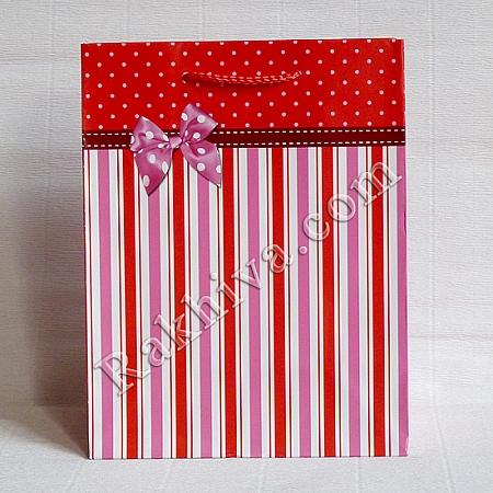 Ламинирани хартиени торбички Ракхива, 17,8x22,9x9,8 cm, 10 бр. средни (2066)
