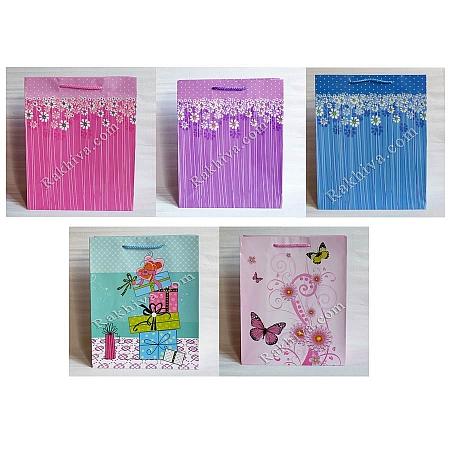 Ламинирани хартиени торбички Ракхива ПАКЕТ МИКС, 26,4x32,4x13,7 cm, големи