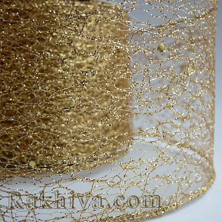 Мрежа с брокат - злато, 8 см/ 10 Y (80/10/38200)