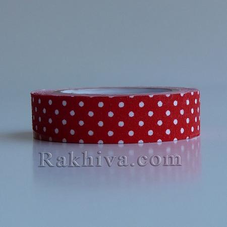 Декоративно тиксо Точки, червено (DIY-A003-C09)