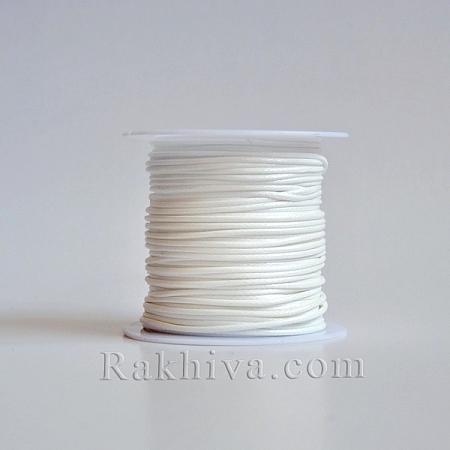 Восъчен шнур, 1 мм бяло (YC-R004-1.0mm-13)