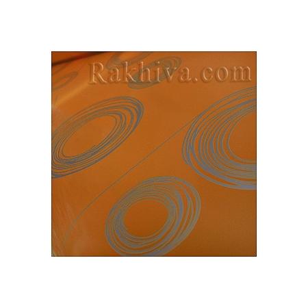 Двуцветен целофан за цветя, Кръгове/ оранжево, злато (50/50/121375)