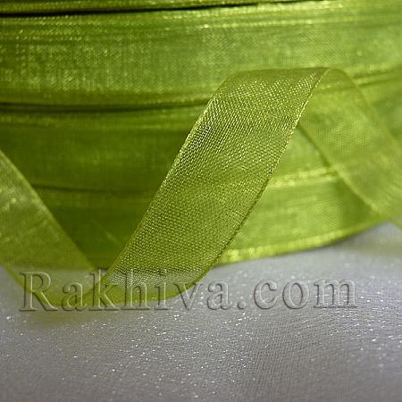 Тъкани панделки Органза, 1 ролка 1 cm/ 50 ярда резеда (10/50/2263)