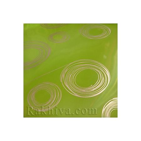 Двуцветен целофан за цветя, Кръгове/ резеда, сребро (50/50/121361)