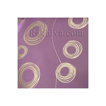Двуцветен целофан за цветя, Кръгове/ лилаво, сребро (50/50/121390)