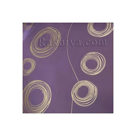Двуцветен целофан за цветя, Кръгове/ тъмно лилаво, сребро (50/50/121395)