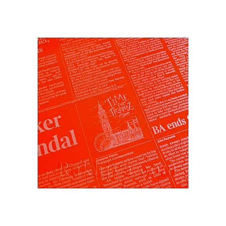 Двуцветен целофан за цветя, Вестник/ червено, сребро  (50/50/91380)