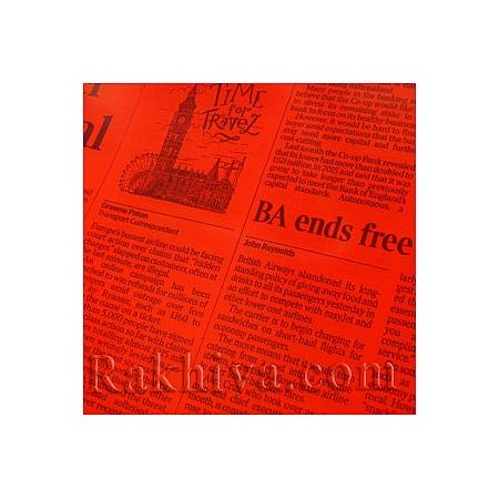 Двуцветен целофан за цветя черно, Вестник/ червено, черно  (50/50/91380)