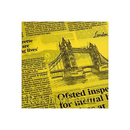 Двуцветен целофан за цветя, Вестник/ жълто (50/50/91370)