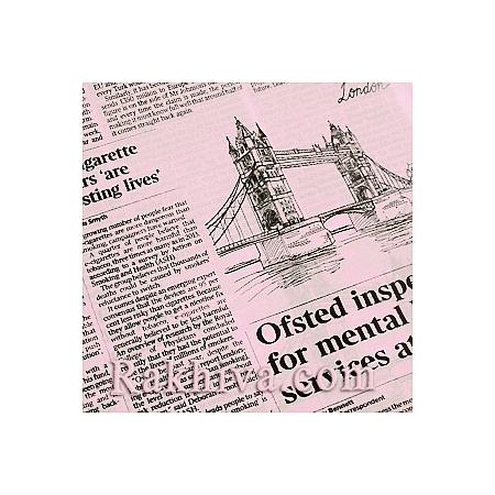 Двуцветен целофан за цветя, Вестник/ розово (50/50/91340)
